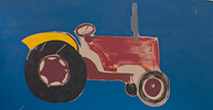 TRACTOR, Oil on Board, 91x61cm (36x24in)