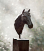 BEAUTIFUL HORSE, Bronze,  33cm (13in)